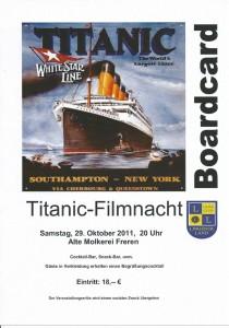 Titanic Eintrittskarte